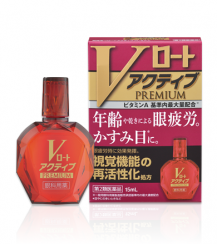 Rohto V Premium Active - 9 активных веществ для реактивации функций зрения