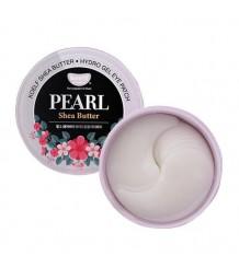 KOELF Hydro Gel Pearl & Shea Butter - Гидрогелевые патчи для глаз с маслом ши и жемчужной пудрой 60 шт