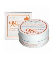 Petitfee Collagen & CoQ10 Hydro Gel Eye Patch - Гидрогелевые патчи для глаз с коэнзимом Q10 и 98% содержанием коллагена, 60 шт