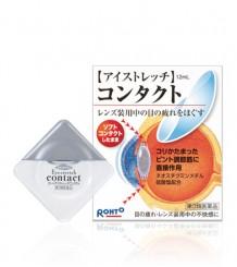 Rohto Eyestretch Contact - глазные капли для контактных линз, улучшают фокусировку и снимают усталость