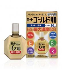 Rohto Gold 40 - Возрастные капли содержат 6 важных компонентов